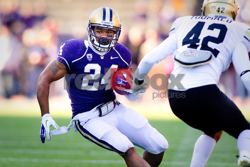 Jesse Callier. The University of Colorado Buffaloes are beaten by the University of Washington 52-24 at Husky Stadium in Seattle, Wash. on Saturday October 15, 2011. (Photography By Scott Eklund/Red Box Pictures)