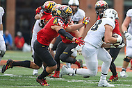 College Park, MD - October 1, 2016: Purdue Boilermakers tight end Cole Herdman (88) catches a pass during game between Purdue and Maryland at  Capital One Field at Maryland Stadium in College Park, MD.  (Photo by Elliott Brown/Media Images International)