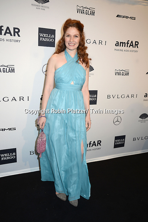 Khrystyne Haje attends the amfAR New York Gala on February 5, 2014 at Cipriani Wall Street in New York City.