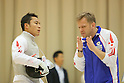 (L to R) Yuki Ota (JPN), ?Coach Oleg Matseichuk, .APRIL 23, 2012 - Fencing : .Asian Fencing Championships 2012,  .Mens Foil Individual .at Wakayama Big Wave, in Wakayama, Japan. .(Photo by Akihiro Sugimoto/AFLO SPORT) [1080]