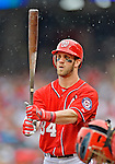 2 September 2012: Washington Nationals' rookie outfielder Bryce Harper steps up to the plate against the St. Louis Cardinals at Nationals Park in Washington, DC. The Nationals edged out the visiting Cardinals 4-3, capping their 4-game series with three wins. Mandatory Credit: Ed Wolfstein Photo