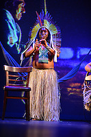 MIAMI, FL - SEPTEMBER 29: Matsini performs during the Journey to Mutum: A Cultural Encounter with the Yawanaw· Tribe of the Brazilian Amazon at Miami Theater Center on September 29, 2016 in Miami, Florida. Credit: MPI10 / MediaPunch