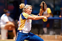 SAN ANTONIO, TX - MAY 3, 2008: The St. Edward's University Hilltoppers vs. The St. Mary's University Rattlers Softball on Day 3 of the Heartland Conference Softball Tournament at Rattler Field. (Photo by Jeff Huehn)