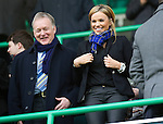 Hibs v St Johnstone...21.01.12.Maria Fowler girlfriend of St Johnstone's Lee Croft pictured with St Johnstone Director Gary Whyte.Picture by Graeme Hart..Copyright Perthshire Picture Agency.Tel: 01738 623350  Mobile: 07990 594431