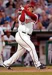 16 June 2006: Daryle Ward, first baseman for the Washington Nationals, at bat against the New York Yankees at RFK Stadium, in Washington, DC. The Yankees defeated the Nationals 7-5 in the first meeting of the two franchises...Mandatory Photo Credit: Ed Wolfstein Photo...