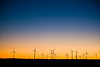 Twilight Sky with wind turbine silhouettes