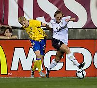 Rachel Buehler, Annica Svensson. The USWNT defeated Sweden, 3-0.