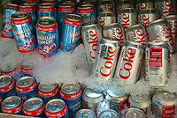 Assorted, Canned, Sodas, on Ice, Gourmet Food Truck, Diet Coke, Hawaiian Punch