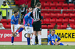 St Johnstone v Dunfermline....25.02.12   SPL.Jody Morris goes down injured before being subbed.Picture by Graeme Hart..Copyright Perthshire Picture Agency.Tel: 01738 623350  Mobile: 07990 594431
