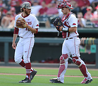 NWA Democrat-Gazette/ANDY SHUPE<br /> Arkansas Georgia Saturday, April 15, 2017, during the inning at Baum Stadium in Fayetteville. Visit nwadg.com/photos to see more photographs from the game.