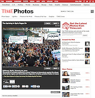 Screengrab of &quot;Uprising in Syria rages on&quot; published in TIME.com