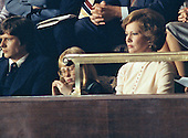 First lady Rosalyn Carter looks on as United States President Jimmy Carter delivers his State of the Union Address to a joint session of the US Congress in the US House Chamber in the US Capitol on January 20, 1978.  Seated at left is daughter Amy Carter.<br /> Credit: Arnie Sachs / CNP