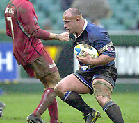 31/01/2004 Parker Pen Challenge Trophy.Bath Rugby v Beziers.David Flatman...   [Mandatory Credit, Peter Spurier/ Intersport Images].