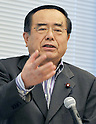 Tokyo, Japan, September 7, 2011 : Hiroshi Nakai, lawmaker of the House of Representatives speaks during the inaugural conference of international coalition to stop crimes against humanity in North Korea in Tokyo, Japan, on September 7, 2011. (Photo by AFLO)