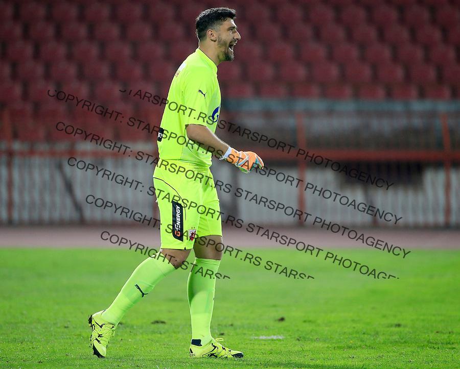 Fudbal Jelen Super League season 2015-2016<br /> Crvena Zvezda v Novi Pazar<br /> goalkeeper Damir Kahriman<br /> Beograd, 26.09.2015.<br /> foto: Srdjan Stevanovic/Starsportphoto&copy;