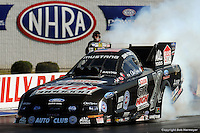 INDIANAPOLLIS, IN - SEPTEMBER 1: John Force drives his Funny Car during the Mac Tools U.S. Nationals on September 1, 2008, at O'Reilly Raceway Park near Indianapolis, Indiana.