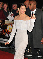 Cobie Smulders at the &quot;Jack Reacher: Never Go Back&quot; European film premiere, Cineworld Empire Leicester Square cinema, Leicester Square, London, England, UK, on Thursday 20 October 2016. <br /> CAP/CAN<br /> &copy;CAN/Capital Pictures /MediaPunch ***NORTH AND SOUTH AMERICAS ONLY***