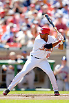 11 April 2006: Brandon Watson, outfielder for the Washington Nationals, at bat during the Nationals' Home Opener against the New York Mets in Washington, DC. The Mets defeated the Nationals 7-1 to start the 2006 season at RFK Stadium...Mandatory Photo Credit: Ed Wolfstein Photo..