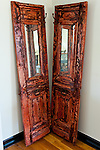 A pair of fabulous old doors from the old country decorates one corner of the tasting room at Molon Lave Vineyards.
