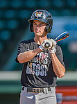 20 August 2015: Tri-City ValleyCats outfielder Johnny Sewald awaits his turn in the batting cage prior to a game against the Vermont Lake Monsters at Centennial Field in Burlington, Vermont. The Stedler Division-leading ValleyCats defeated the Lake Monsters 5-2 in NY Penn League action. Mandatory Credit: Ed Wolfstein Photo *** RAW Image File Available ****