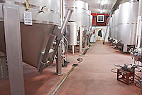 Fermentation tanks. Kir-Yianni Winery, Yianakohori, Naoussa, Macedonia, Greece