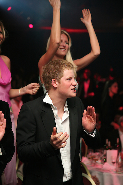 Prince Harry claps during the Boodles Boxing Ball in London