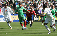 Giovani Dos Santos (17) dribbles through Nicaragua players. Mexico defeated Nicaragua 2-0 during the First Round of the 2009 CONCACAF Gold Cup at the Oakland, Coliseum in Oakland, California on July 5, 2009.