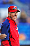 5 March 2012: Washington Nationals Manager Davey Johnson watches batting practice prior to a Spring Training game against the New York Mets at Digital Domain Park in Port St. Lucie, Florida. The Nationals defeated the Mets 3-1 in Grapefruit League play. Mandatory Credit: Ed Wolfstein Photo