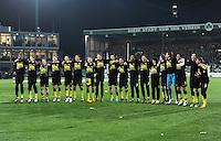 FUSSBALL   DFB POKAL   SAISON 2011/2012   HALBFINALE SpVgg Greuther Fuerth - Borussia Dortmund                  20.03.2012 Jubel nach dem Sieg das Team von Borussia Dortmund