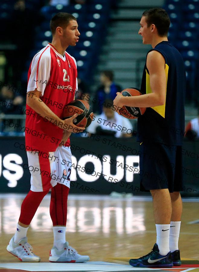 Kosarka Euroleague season 2015-2016<br /> Euroleague <br /> Crvena Zvezda v Fenebahce Istanbul<br /> Stefan Jovic and Bogdan Bogdanovic<br /> Beograd, 06.11.2015.<br /> foto: Srdjan Stevanovic/Starsportphoto &copy;