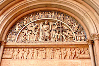 Detail of Baptistry Door  - Piazza Del Duomo - Palma Italy.
