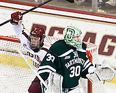 Patch Alber (BC - 3), Charles Grant (Dartmouth - 30) - The Boston College Eagles defeated the visiting Dartmouth College Big Green 6-3 (EN) on Saturday, November 24, 2012, at Kelley Rink in Conte Forum in Chestnut Hill, Massachusetts.