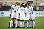 UCLA's starters huddle before the start of the game. The University of Portland Pilots defeated the UCLA Bruins 4-0 to win the NCAA Division I Women's Soccer Championship game at Aggie Soccer Stadium in College Station, TX, Sunday, December 4, 2005.