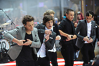 One Direction perform on NBC's in New York City.