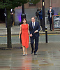 David and Samantha Cameron walk over ahead of leader's speech at Conservative Party Conference, manchester, Great Britain <br /> 7th October 2015 <br /> <br /> <br /> <br /> Photograph by Elliott Franks <br /> Image licensed to Elliott Franks Photography Services