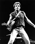 Bruce Springsteen 1985 at LA Coliseum.© Chris Walter.