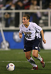1 December 2006: Notre Dame's Jill Krivacek. The University of Notre Dame Fighting Irish defeated Florida State Seminoles 2-1 at SAS Stadium in Cary, North Carolina in an NCAA Division I Women's College Cup semifinal game.