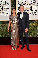 Ruth Negga &amp; Joel Edgerton at the 74th Golden Globe Awards  at The Beverly Hilton Hotel, Los Angeles USA 8th January  2017<br /> Picture: Paul Smith/Featureflash/SilverHub 0208 004 5359 sales@silverhubmedia.com