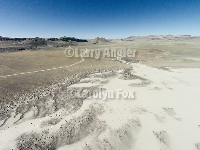 Lunar Lake, Nevada, from a drone.