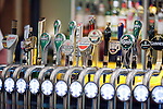 Beer taps from different brands in a pub, Dublin, Ireland