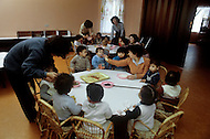 March 1982, Lebanon, kindergarden named after the martyr Taghreed Albatmi, built and sponsored by Libya.