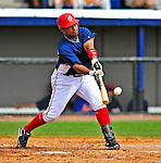 8 March 2009: Washington Nationals' infielder Ronnie Belliard in action during a Spring Training game against the New York Mets at Space Coast Stadium in Viera, Florida. The Nationals defeated the Mets 8-3 in the Grapefruit League matchup. Mandatory Photo Credit: Ed Wolfstein Photo