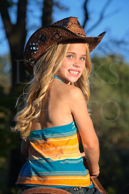 Girls Wearing Cowboy Hats Wearing a Cowboy Hat