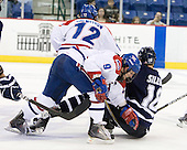 Jason DeLuca (Lowell - 9), Jeff Silengo (UNH - 18) - The visiting University of New Hampshire Wildcats defeated the University of Massachusetts-Lowell River Hawks 3-0 on Thursday, December 2, 2010, at Tsongas Arena in Lowell, Massachusetts.