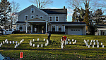 "WOODBURY, CT 19 DECEMBER- 121912JS03-  A group of supporters placed spelling ""HOPE"" with luminarias outside  the Munson-Lovetere Funeral Home in Woodbury on Wednesday during calling hours for Sandy Hook Principal Dawn Hochsprung.. Jim Shannon Republican American"