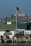 Alcatraz Island from Pier 39 area
