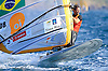 Portugal, Funchal, Madeira :  Winiki Santos Ricardo, competes on February 24, in 2012 European Windsurfing Championships in the bay of Funchal on the Portuguese archipelago of Madeira.Photo Gregorio Cunha .Campeonato da Europa de windsuf, classe RSX, na baia da cidade do Funchal,  Iha da Madeira, Portugal..Foto Gregorio Cunha