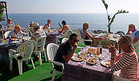 Chiringuito, beach restaurant, alfresco, dining, San Pedro de Alcantara, Marbella, Spain, November, 2015, 201511171820<br /> <br /> Copyright Image from Victor Patterson, 54 Dorchester Park, Belfast, UK, BT9 6RJ<br /> <br /> t1: +44 28 9066 1296 (from Rep of Ireland 048 90661296)<br /> t2: +44 28 9002 2446 (from Rep of Ireland 048 90022446)<br /> m: +44 7802 353836<br /> <br /> e1: victorpatterson@me.com<br /> e2: victorpatterson@gmail.com<br /> <br /> www.victorpatterson.com<br /> <br /> IMPORTANT: Please see my Terms and Conditions of Use at www.victorpatterson.com