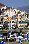 Apartment and hotels overlooking Los Cristianos,Tenerife, Canary Islands