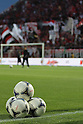 General view,.APRIL 21, 2012 - Football / Soccer :.Urawa Reds' balls are seen during a warm-up before the 2012 J.League Division 1 match between Omiya Ardija 2-0 Urawa Red Diamonds at NACK5 Stadium Omiya in Saitama, Japan. (Photo by Hiroyuki Sato/AFLO)